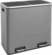 SVITA TM2X24 Grau matt Treteimer 48 Liter