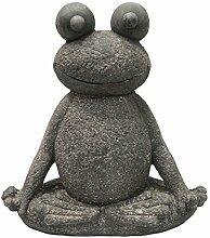 SVITA Yoga Frosch Garten-Figur Feng Shui Statue