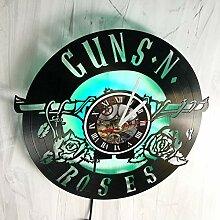 SVITshop Guns N' Roses LED-Wanduhr,