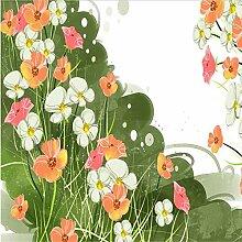 Svsnm Blumen-Tapete-Tinte