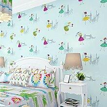 Svsnm Hellblau Kinder Tapete Für Wände Cartoon