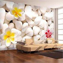 Svsnm Moderne 3D-Stereo-Stein-und Blumen-Tapete,