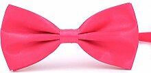 Swallowuk Herren Einfarbig Krawatte Männer Casual Hochzeit Krawatte (Rose)