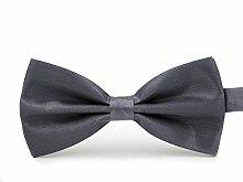 Swallowuk Herren Einfarbig Krawatte Männer Casual Hochzeit Krawatte (Dunkelgrau)