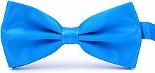 Swallowuk Herren Einfarbig Krawatte Männer Casual Hochzeit Krawatte (Blau)