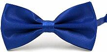 Swallowuk Herren Einfarbig Krawatte Männer Casual Hochzeit Krawatte (Dunkelblau)