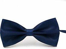 Swallowuk Herren Einfarbig Krawatte Männer Casual Hochzeit Krawatte (Marine)