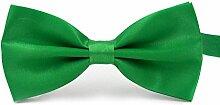 Swallowuk Herren Einfarbig Krawatte Männer Casual Hochzeit Krawatte (Grün)