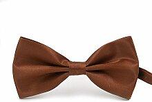 Swallowuk Herren Einfarbig Krawatte Männer Casual Hochzeit Krawatte (Braun)