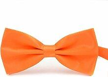 Swallowuk Herren Einfarbig Krawatte Männer Casual Hochzeit Krawatte (Orange)