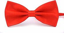 Swallowuk Herren Einfarbig Krawatte Männer Casual Hochzeit Krawatte (Rote)