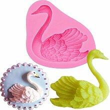 Swan Form 3D Fondant Silikon Form Kerze Schokolade Seife Formen Zucker Craft Werkzeuge Backgeschirr