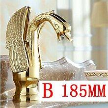 Swan Form antiken Badezimmer Messing Waschbecken