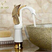 Swan Stil Antik Bronze Deck montiert Badezimmer