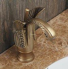 Swan Stil antik Messing Bronze Armatur Badewanne