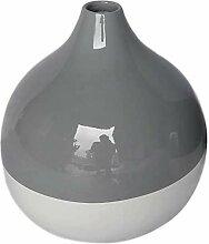 SWAOOS Graue und weiße kreisförmiger Bambus Vase