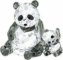 Swarovski 5063690 Pandamutter mit Baby, 8,1 x 10,5