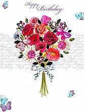 Swarovski Elements Geburtstag Grußkarte Handmade