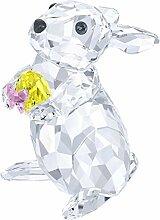 Swarovski Hase Mit Gelbem Osterei Figur, Kristall,