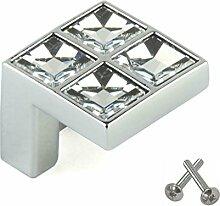 Swarovski Kristall Möbelgriff Schlafzimmer Schranktür Küche Kabinett Möbelknopf Knopfgriff Chrom
