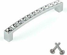 Swarovski Kristall Stangengriff Möbelgriff Schlafzimmer Schranktür Küche Kabinett Bügelgriff 128mm