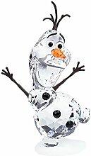 Swarovski Olaf Figur, Glas, transparent, orange