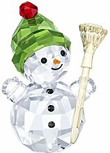Swarovski Snowman with Broom Stick, Kristall,