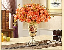 Swdg Retro dekorative Vase bridal Dekoration kreative handbemalte Antik Silber vase Heimtextilien, C Absatz 16 * 16 * 27 CM
