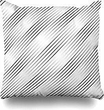 Swdream Dekokissenbezüge Diagonale Streifenmuster