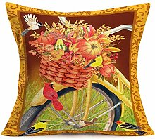 Swdream Vintage Gelb Fahrrad Überwurf Kissenbezug