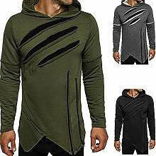 Sweatshirts, Herren Slim Fashion Scratch Design
