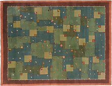 Swedish Pile Rug with Branches Motif