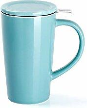 Sweese 202.102 Porzellan Teetasse mit Teesieb und