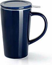 Sweese 202.103 Porzellan Teetasse mit Teesieb und