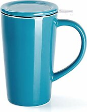 Sweese 202.107 Porzellan Teetasse mit Teesieb und