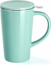Sweese 202.109 Porzellan Teetasse mit Teesieb und