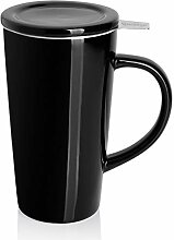 Sweese 202.112 Porzellan Teetasse mit Teesieb und