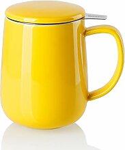 Sweese 204.105 Porzellan Teetasse mit Teesieb und