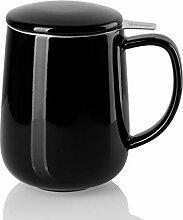 Sweese 204.112 Teetasse aus Porzellan mit Teesieb
