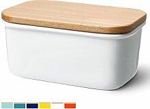 Sweese 3157 Butterdose Porzellan mit Holzdeckel,