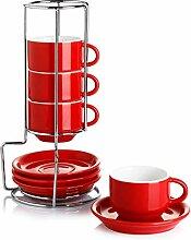 Sweese 405.404 Porzellan-Espresso-Tassen mit