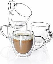 Sweese 415.101 Kaffeebecher aus Glas,
