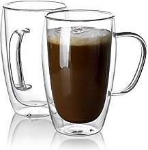 Sweese 416.101 Kaffeebecher aus Glas,