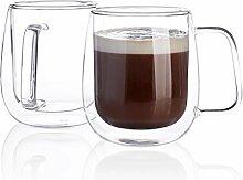 Sweese 418.101 Kaffeetassen aus Glas,