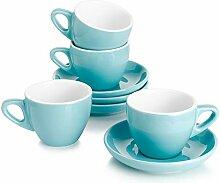 Sweese Porzellan Espressotassen mit Untertassen,