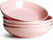 Sweese Salatschalen aus Porzellan, 4 Stück rose