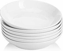 Sweese Salatschalen aus Porzellan, 6 Stück weiß