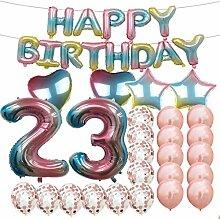 Sweet 23th Birthday Dekoration Party Supplies,