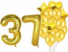 Sweet 37th Birthday Dekorationen Party Supplies,