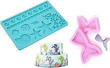 SWEET CANDY BAKERY 3x Torten Fondant 3D Formen aus